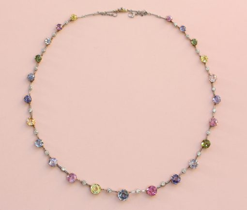 colored sapphire necklace