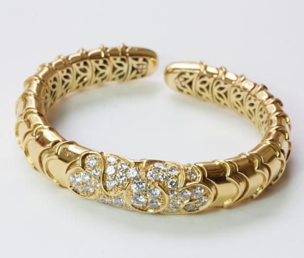 ONDA diamond and gold bracelet