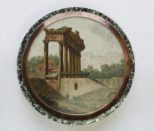 Temple of Concord micro mosaic box