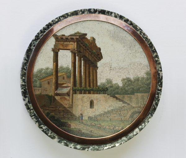 Temple of Concord micro mosaic box