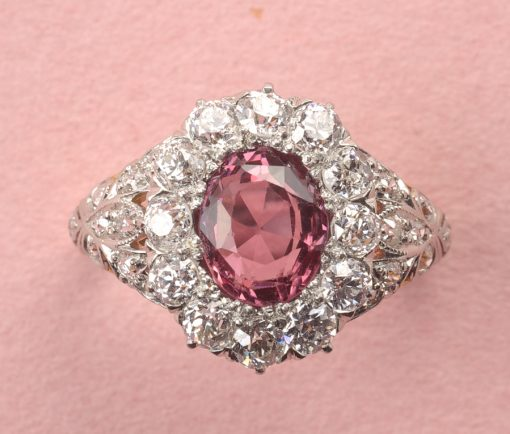diamond and spinel ring