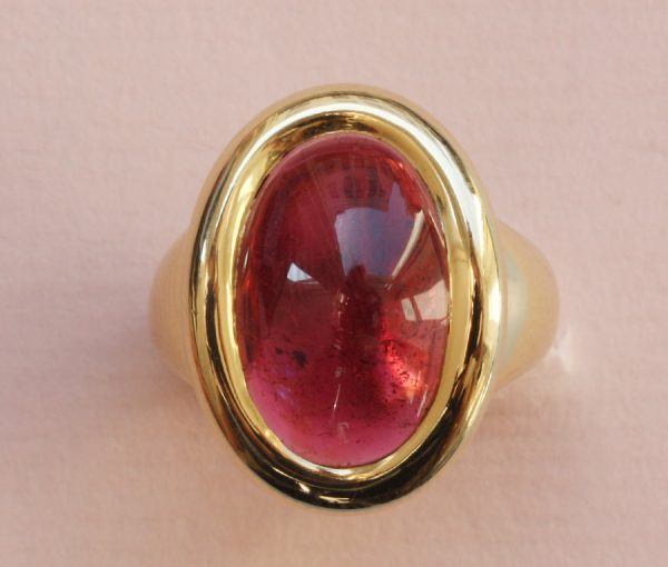 gold and tourmaline ring