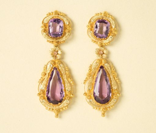 Georgian amethyst earrings