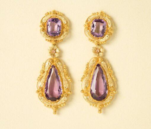 Georgian amethyst earrings