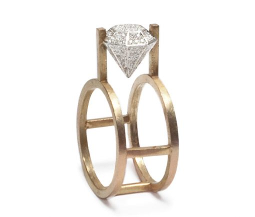 Floating Pave Ring