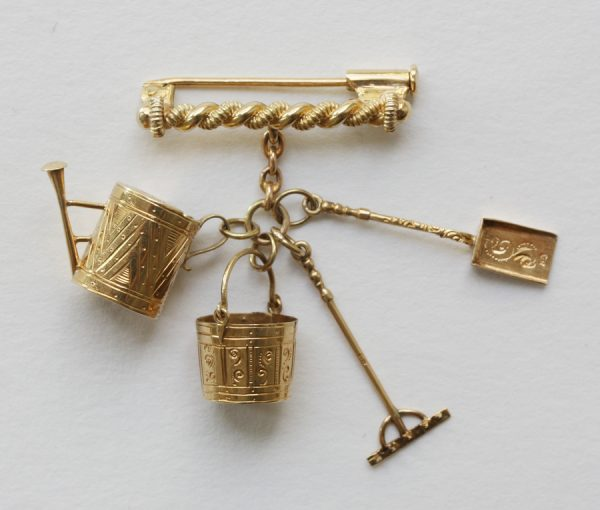 gold gardening charms