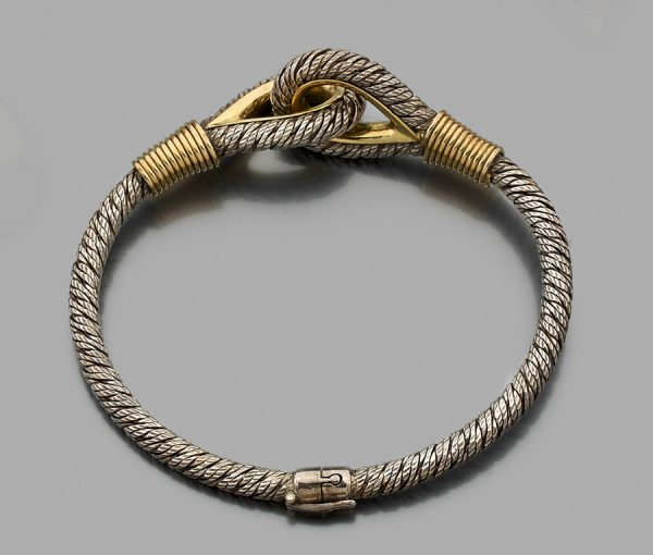 gold and silver nautical bracelet