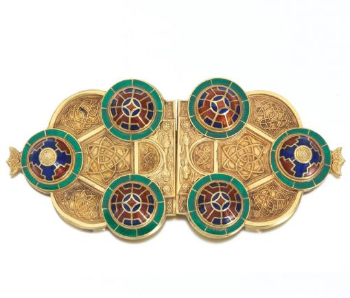 gold neo Celtic belt buckle