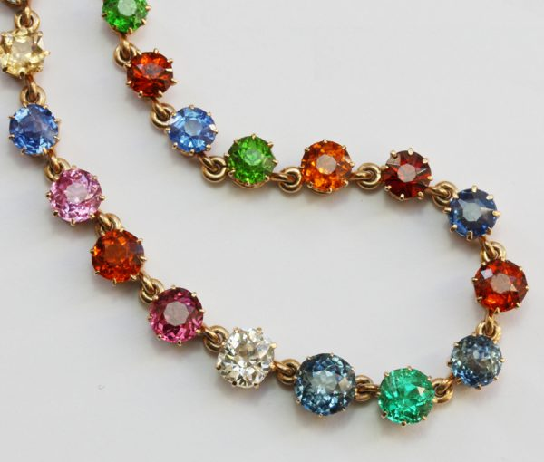 colored Edwardian necklace