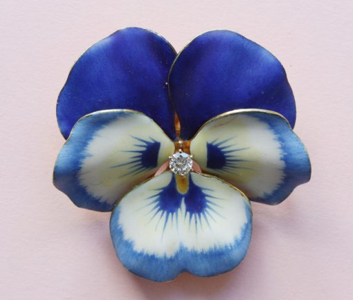enamel and gold brooch or pendant