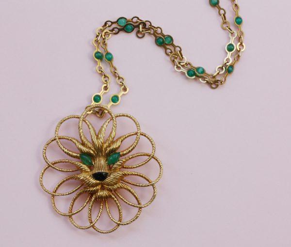 lion pendant and sautoir