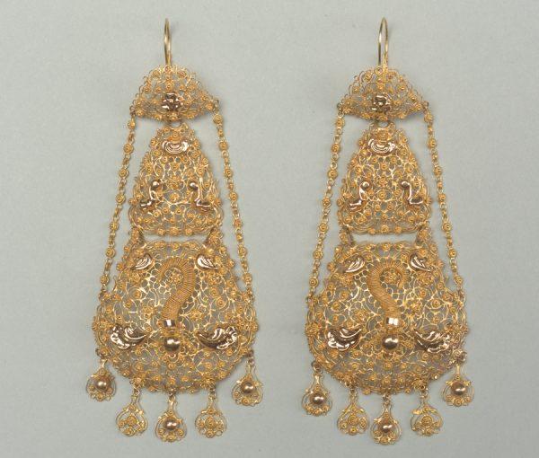gold regional earrings