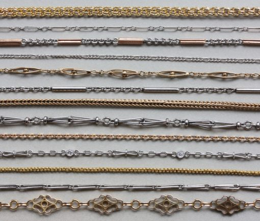antique gold and platinum chains