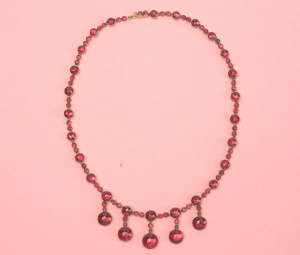gold and garnet necklace