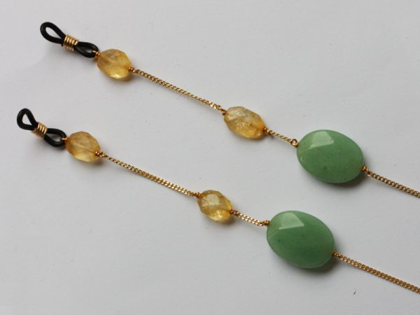 silver gilded gemset sunny straps