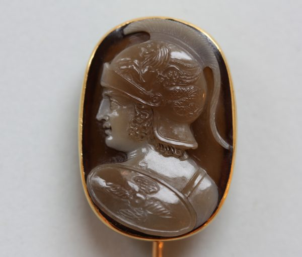 agate cameo representing Mars or Ares