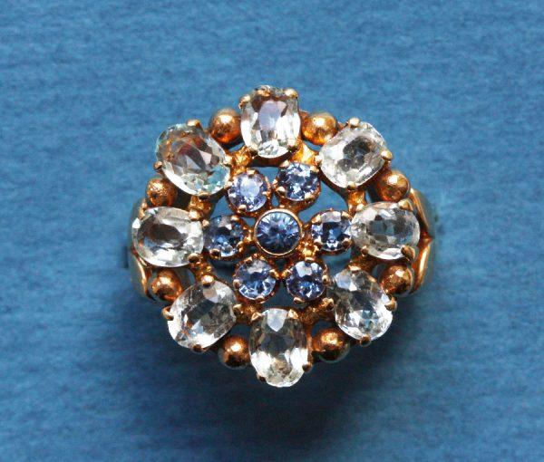 sapphire and aquamarine ring