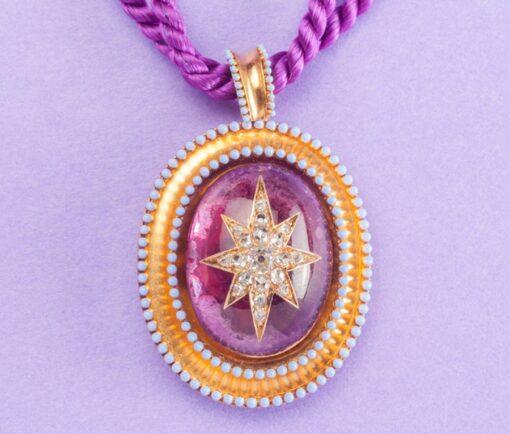 Victorian starburst pendant