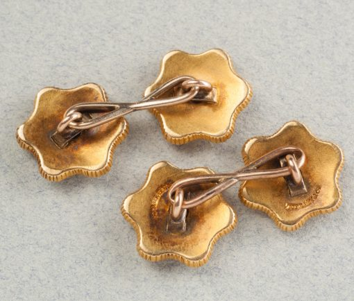 steel and diamond cufflinks