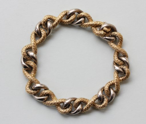two colored gold bracelet