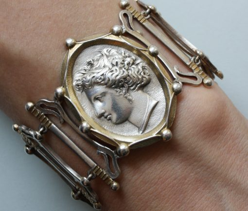 silver gilt bracelet with Arethusa