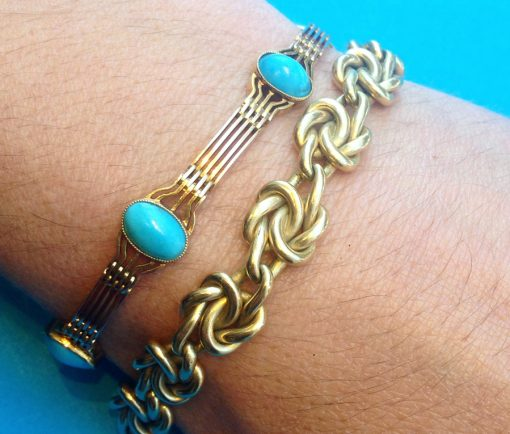 knot and turquoise bracelets