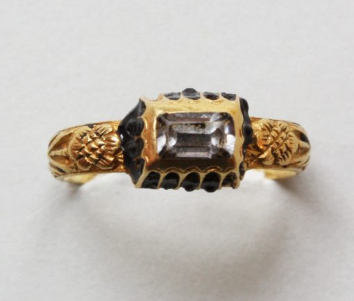 gold and rock crystal ring