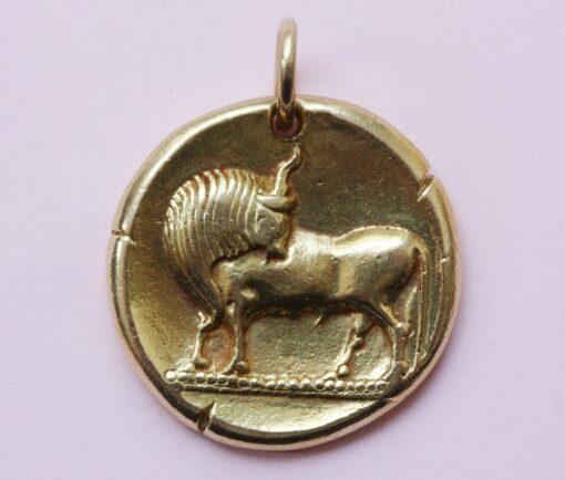 Taurus zodiac pendant