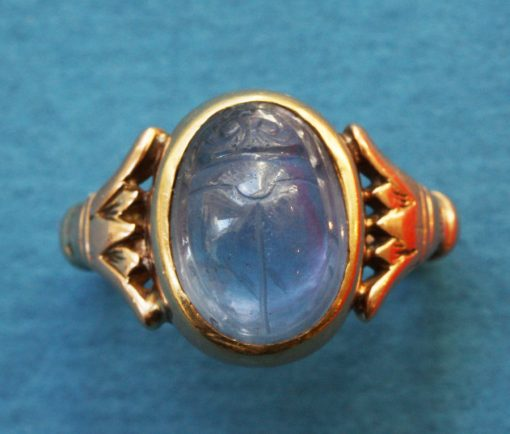 sapphire Egyptian Revival ring