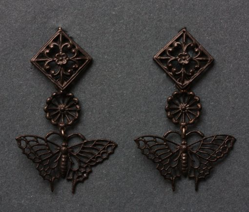 'Fer de Berlin' butterfly earrings