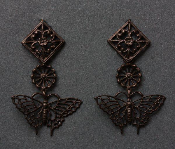'Fer de Berlin' butterfly earrings