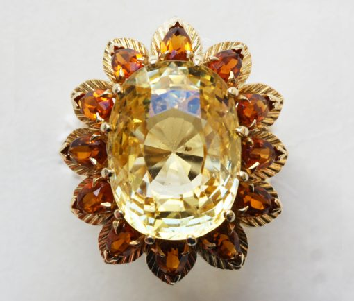 gold and yellow sapphire ring