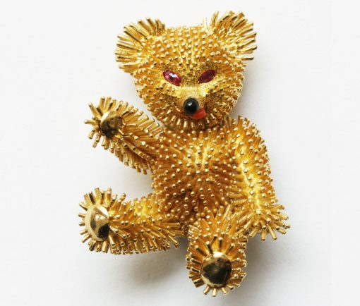teddy bear brooch