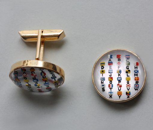nautical alphabet cufflinks