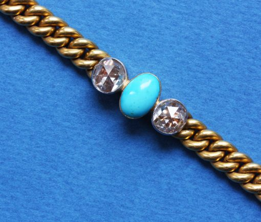 diamond and turquoise gourmet bracelet