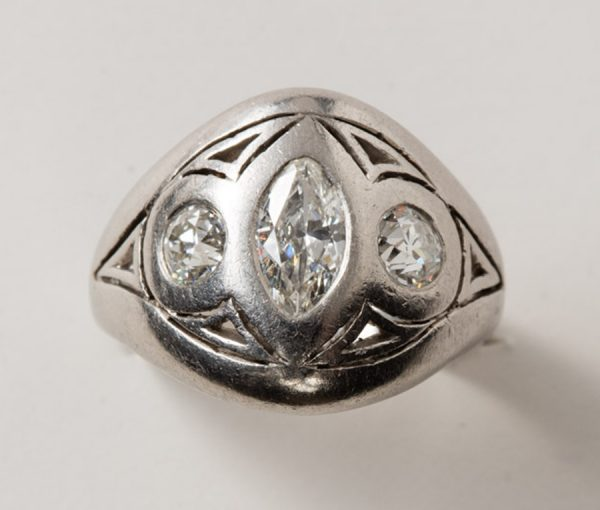 platinum and diamond marquis ring