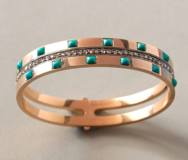 diamond and turquoise bracelet