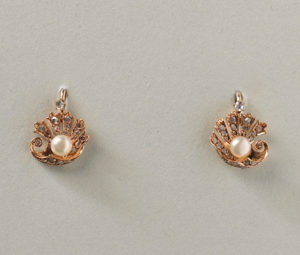 diamond and pearl earrings