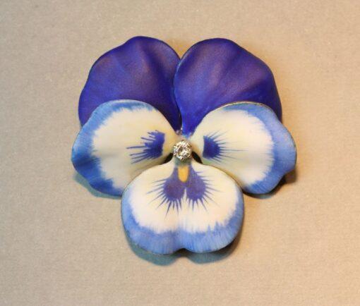 Art Nouveau pansy brooch