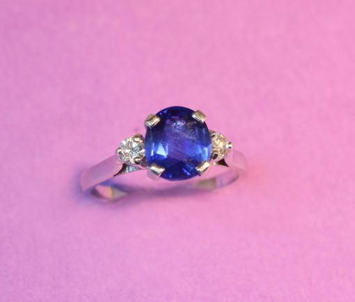 natural Burma sapphire ring