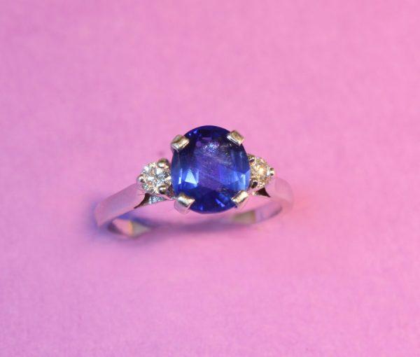 natural Burma sapphire ring