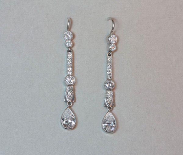 diamond Art Déco earrings