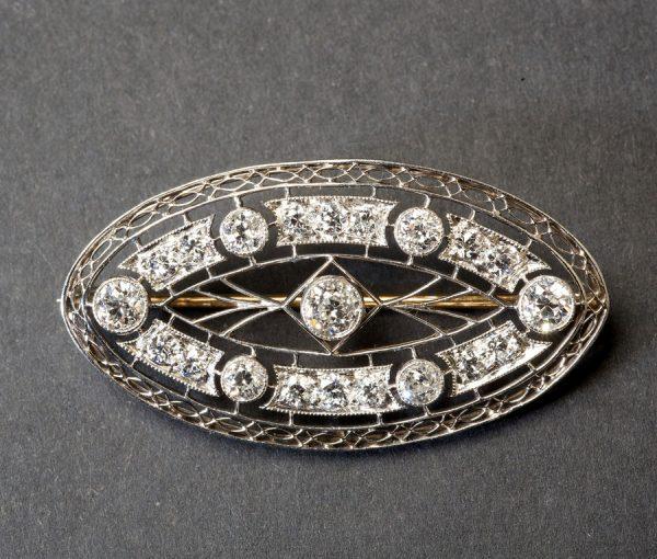 Edwardian diamond brooch