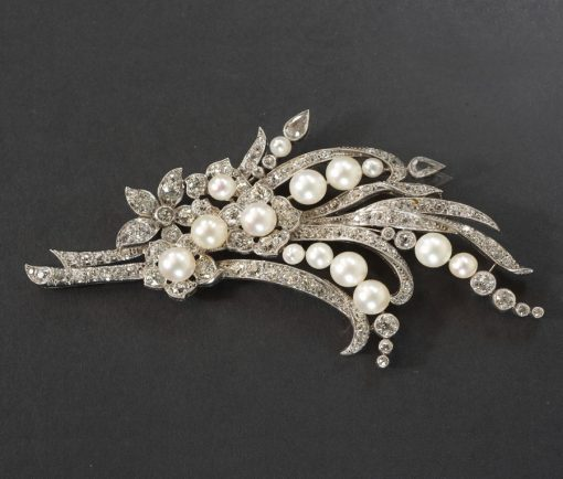 Edwardian diamond spray brooch