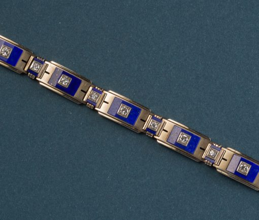 lapis and diamond bracelet