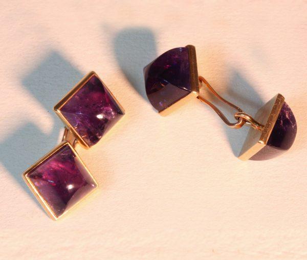 amethyst cufflinks