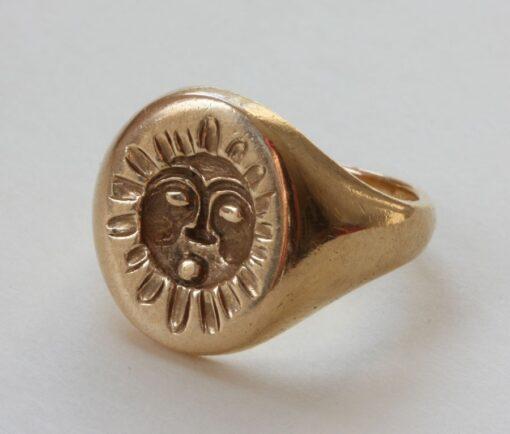 mythological sun seal ring