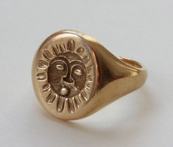 mythological sun seal ring
