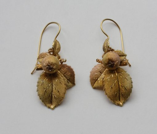 gold Russian earrings