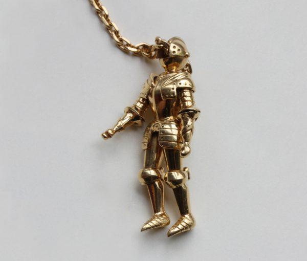 gold knight novelty key chain
